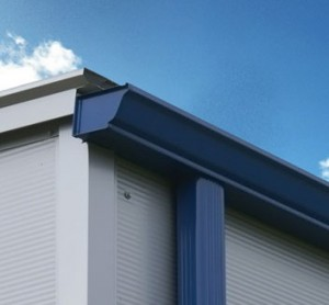 gutters and cladding for steel roof