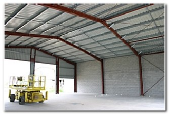structural steel frame building